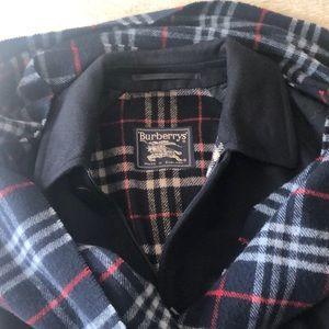 EUC - 🧥 BURBERRY Navy Wool Bomber Jacket